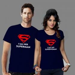 Tričko pro páry I am HER SuperMan, I am HIS SuperWoman, dárek pro přítelkyni, přítele.