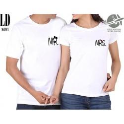 Mr. Mrs. - Párové tričko pro zamilované páry s potiskem na prsou