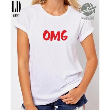 OMG - Dámské tričko s potiskem OMG