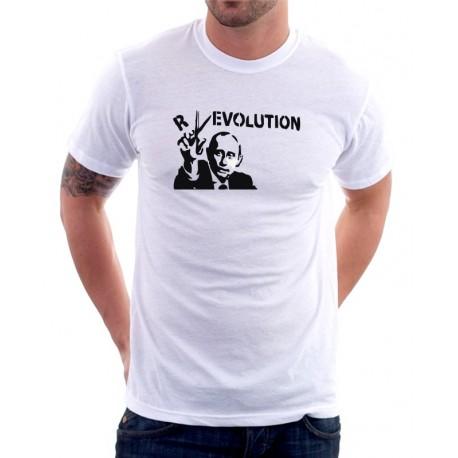 Putin Revolution - Pánské Tričko s vtipným potiskem