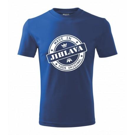 Made in Jihlava - dětské tričko s potiskem jména města Jihlava