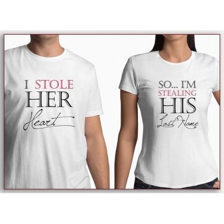 So... I´m stealing his last name.  Tak já ukradnu jeho příjmení. Dámské tričko pro budoucí nevěsty