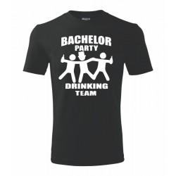 Rozlučka se svobodou, drinking party. Pánské tričko na rozlučkovou párty. Zapíjení svobody pro ženicha.
