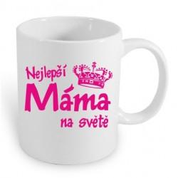 Nejlepší Máma na světě, dárkový hrníček pro mamu v růžovém potisku, dárek, který překvapí