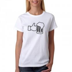 Like Beer - Dámské Tričko s vtipným potiskem