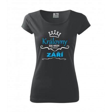 Kerálovny jsou narozeny v září. Dárek pro ženy. Dárkové tričko pro ženy narozené v září.
