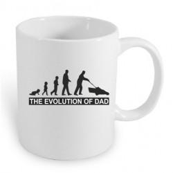 Evoluce táta. Evolution Dad. Dárkový hrníček pro otce. Dárek pro tátu.