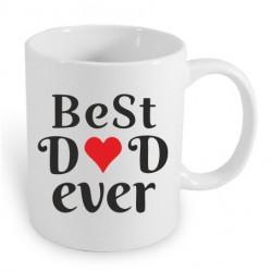 Dárkový hrníček: Best Dad Ever. Hrníček s potiskem Nejlepší Táta jaký může být. Dárek pro tatínka, záruka spokojenosti.