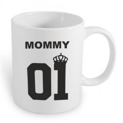 Mommy 01. Dárkový hrníček s potiskem máma 01. Dárek pro mámu. Dáreček pro maminku.
