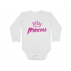 Princess. Princezna.  Kojenecké body s dlouhým rukávem pro holčičky. Bodíčko pro miminko, malou pronceznu.