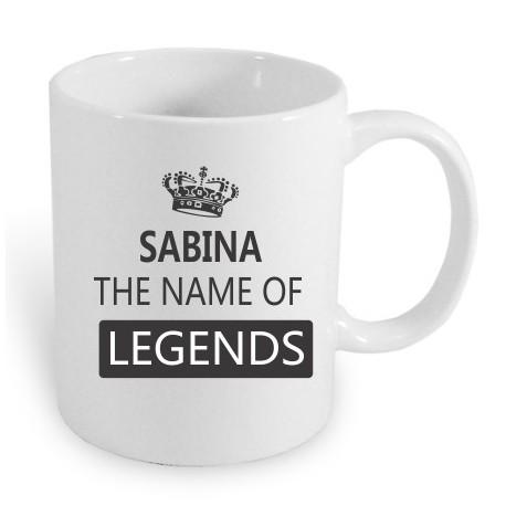 Dárek pro ženy s jménem Sabina.Sabina the name of the legends.