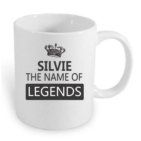 Silvie the name of the legends. Dárek pro ženy s jménem Silvie. Dárek pro Silvii.