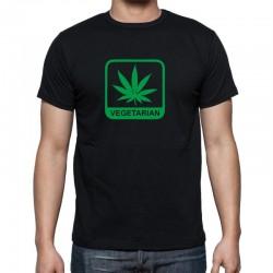 Vegetarián Marihuana- Pánské Tričko s vtipným potiskem
