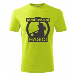 Zájmové dárkové tričko s nápisem: Dobrovolní hasiči. Dárek pro hasiče.
