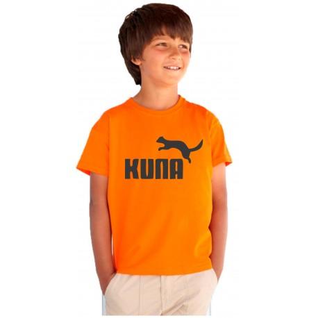Dětské vtipné tričko s nápisem: KUNA. Originální dárek pro chlapce.