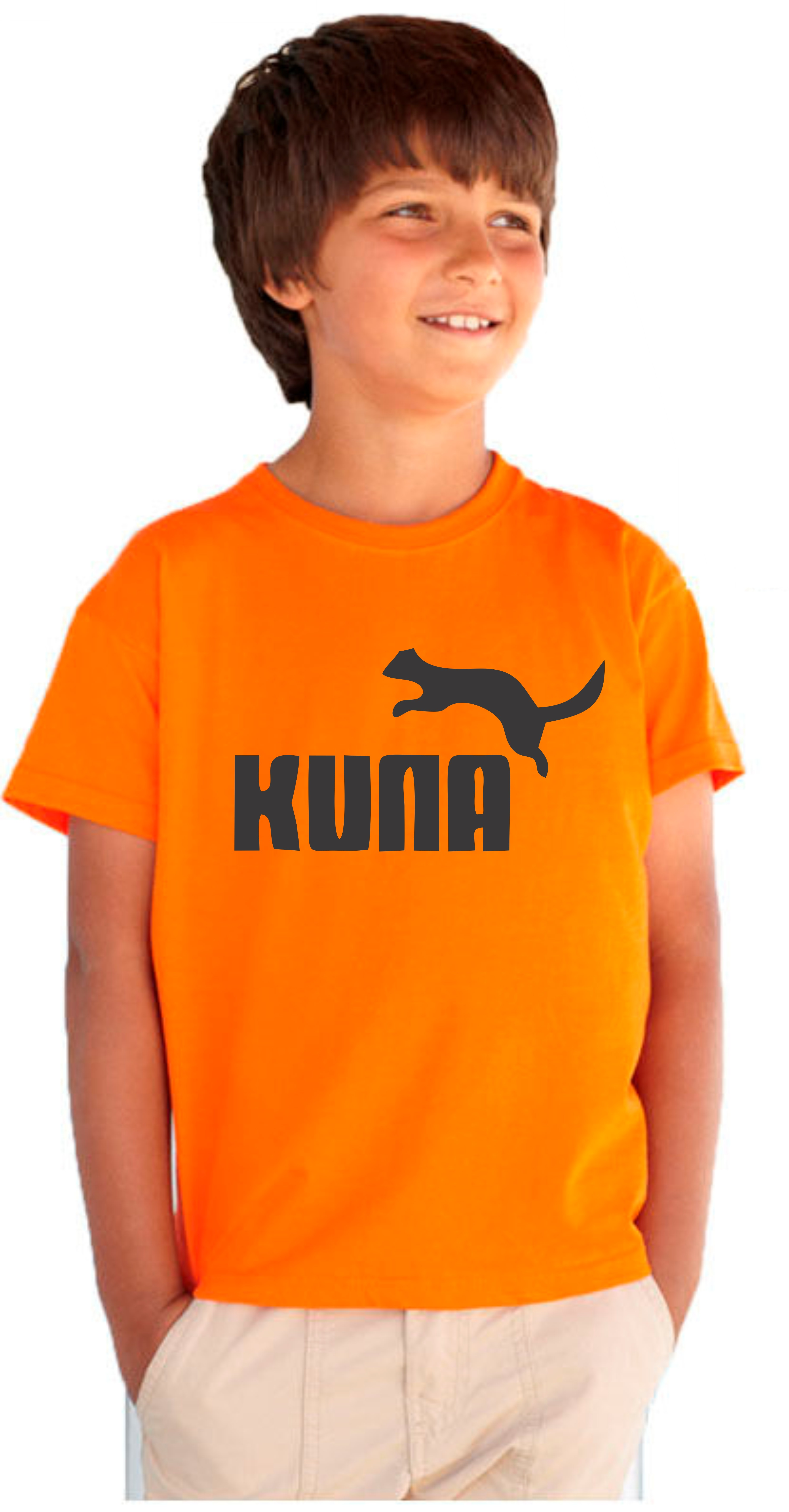 0d4683aaf93 Dětské vtipné tričko s nápisem  KUNA. Originální dárek pro chlapce.