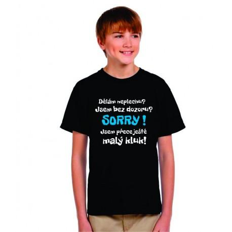 Vtipné tričk s potiskem, humorný dárek pro vašeho syna.