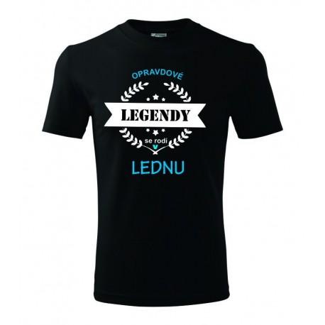 Opravdové legendy se rodí v Lednu, dárek pro muže narozeného v Lednu