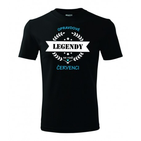 Pánské tričko Opravdové legendy se rodí v Červenci, dárek pro muže narozené v červenci