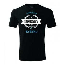 Pánské tričko Opravdové legendy se rodí v Květnu, dárek pro muže narozeného v Květnu