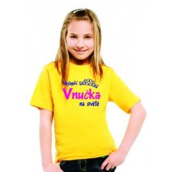 Dětské tričko Nejlepší Vnučka na světě, dárek pro vnučku