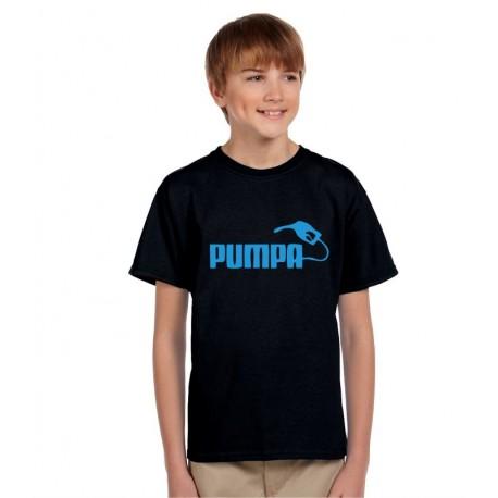 Dětské vtipné tričko s nápisem: Pumpa. Originální dárek pro chlapce.