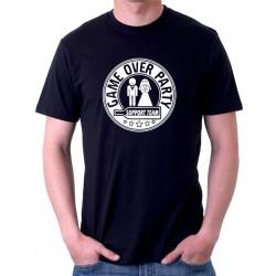Tričko na rozlučku se svobodou pro ženicha a jeho tým Game Over Party