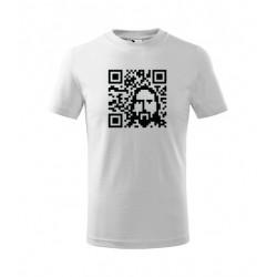 Pánské božské tričko s Božským portrétem uvnitř QR kódu