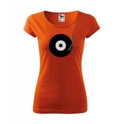 Dámské tričko s motivem gramofonového LP s ramínkem
