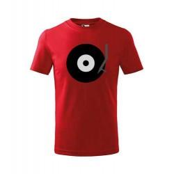 Pánské tričko s motivem gramofonového LP s ramínkem