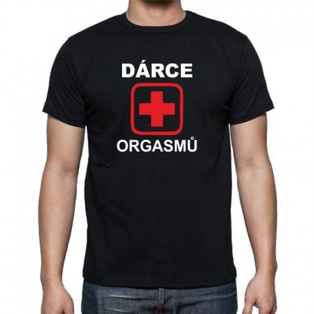 Dárce Orgasmů - Pánské Tričko s vtipným potiskem