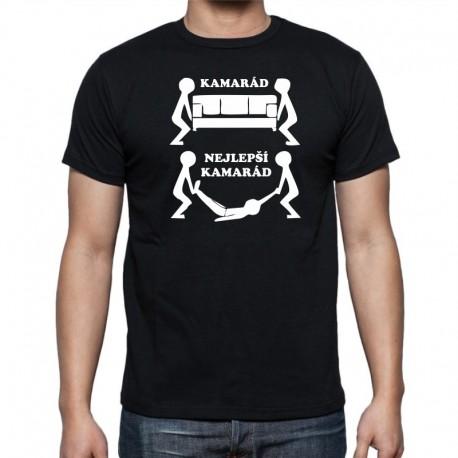 Kamarád-Nejlepší kamarád - Pánské Tričko s vtipným potiskem