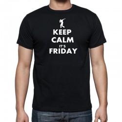 Keep Calm Its Friday - Pánské Tričko s vtipným potiskem
