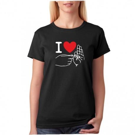 I Love Sex - Dámské  Tričko s vtipným potiskem
