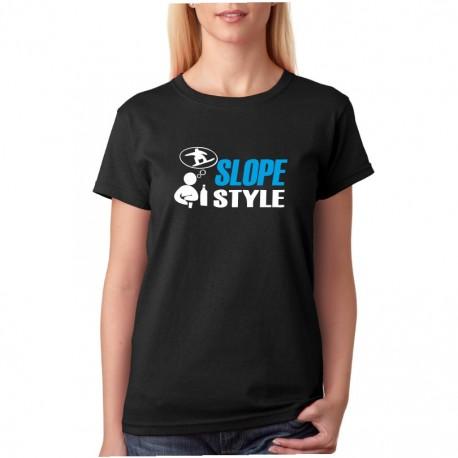 Slope Style - Dámské  Tričko s vtipným potiskem