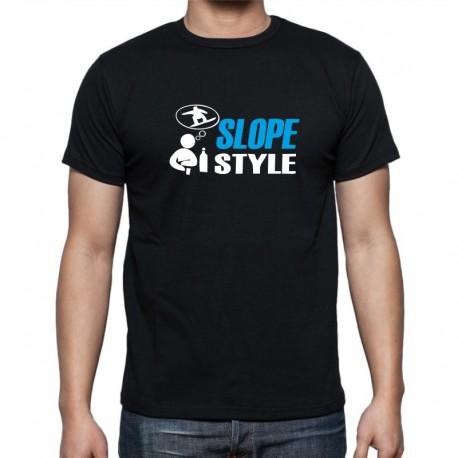 Slope Style - Pánské Tričko s vtipným potiskem