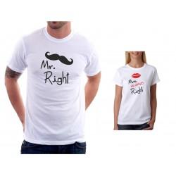 Mr. Right - Pánské Tričko s vtipným potiskem