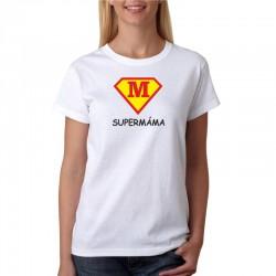 Dárek pro mámu. Tričko s vtipným potiskem SuperMáma ve znaku supermana.