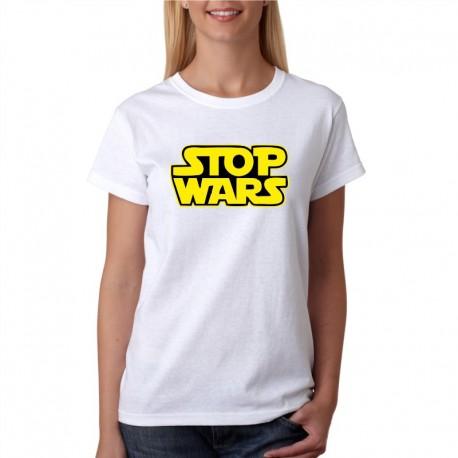 Stop Wars - Dámské  Tričko s vtipným potiskem