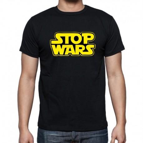 Stop wars - Pánské Tričko s vtipným potiskem