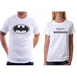 Jsem tady s Batmanem - Dámské  Tričko s vtipným potiskem