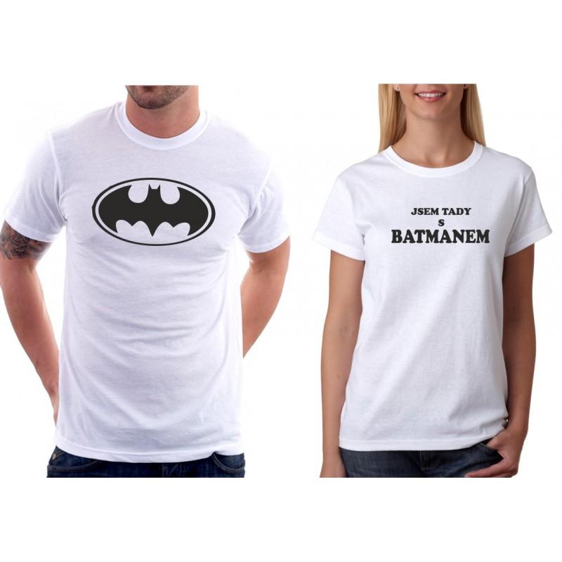 5e1abcd127fd Jsem tady s Batmanem - Dámské Tričko s vtipným potiskem
