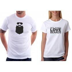 Real Women Love Beards - Dámské  Tričko s vtipným potiskem