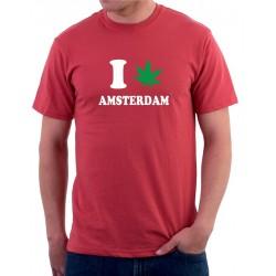 Pánské tričko I canabis Amsterdam