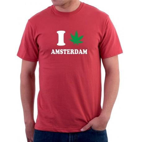 I canabis Amsterdam - Pánské Tričko s vtipným potiskem