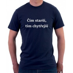 Pánské tričko Čím starší, tím chytřejší